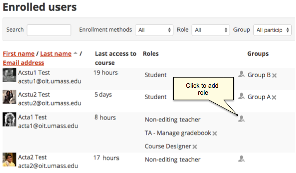 Access to Moodle for Teaching Assistants | UMass Amherst ...