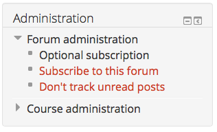 Subcribe/unsubscribe in Administration block