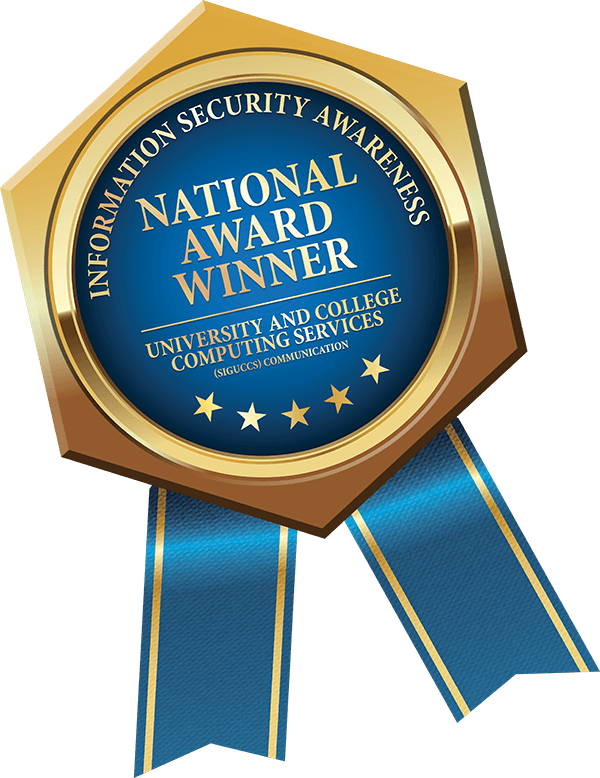 Information Security Awareness National Award Winner badge
