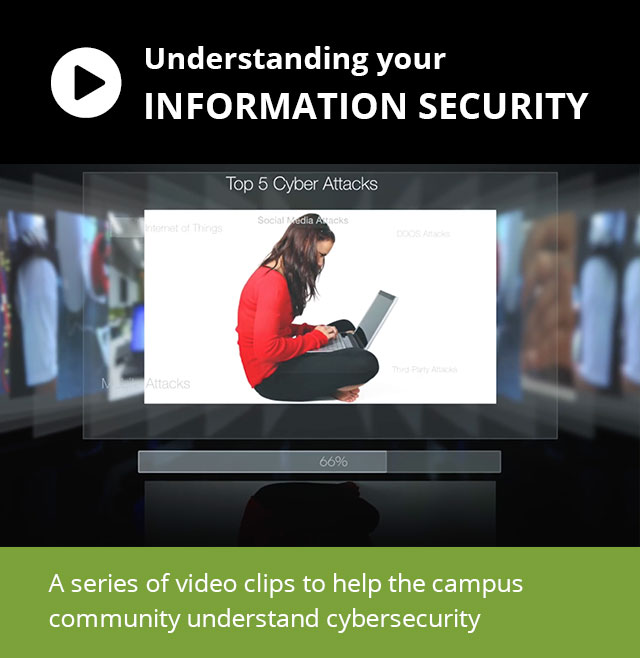 A series of video clips to help the campus community understand cybersecurity