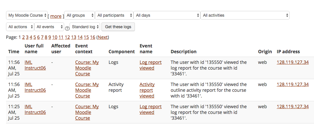 Use Reports to Track Student Activity in Moodle | UMass Amherst ...