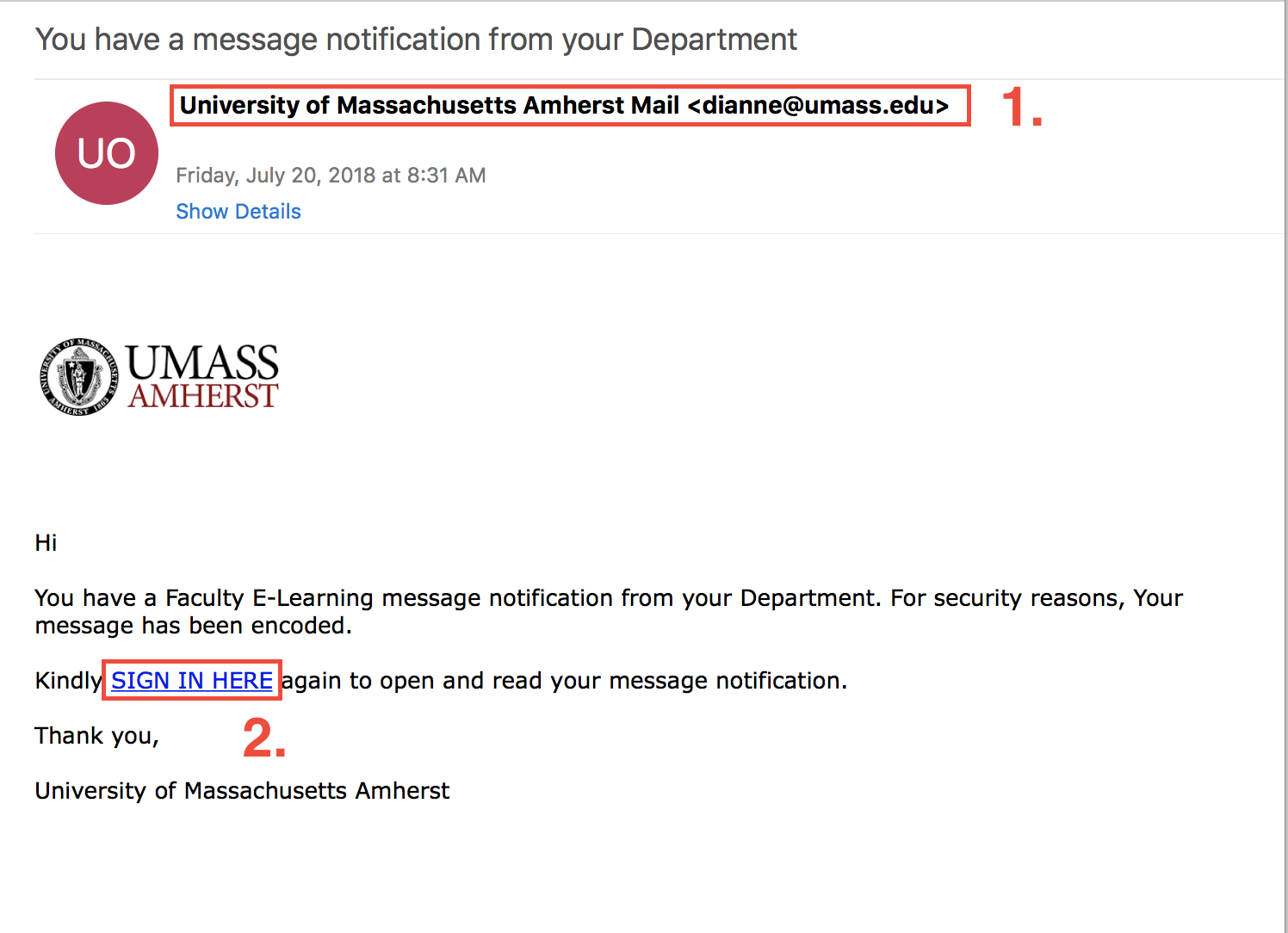 phishing message example 7 20 18