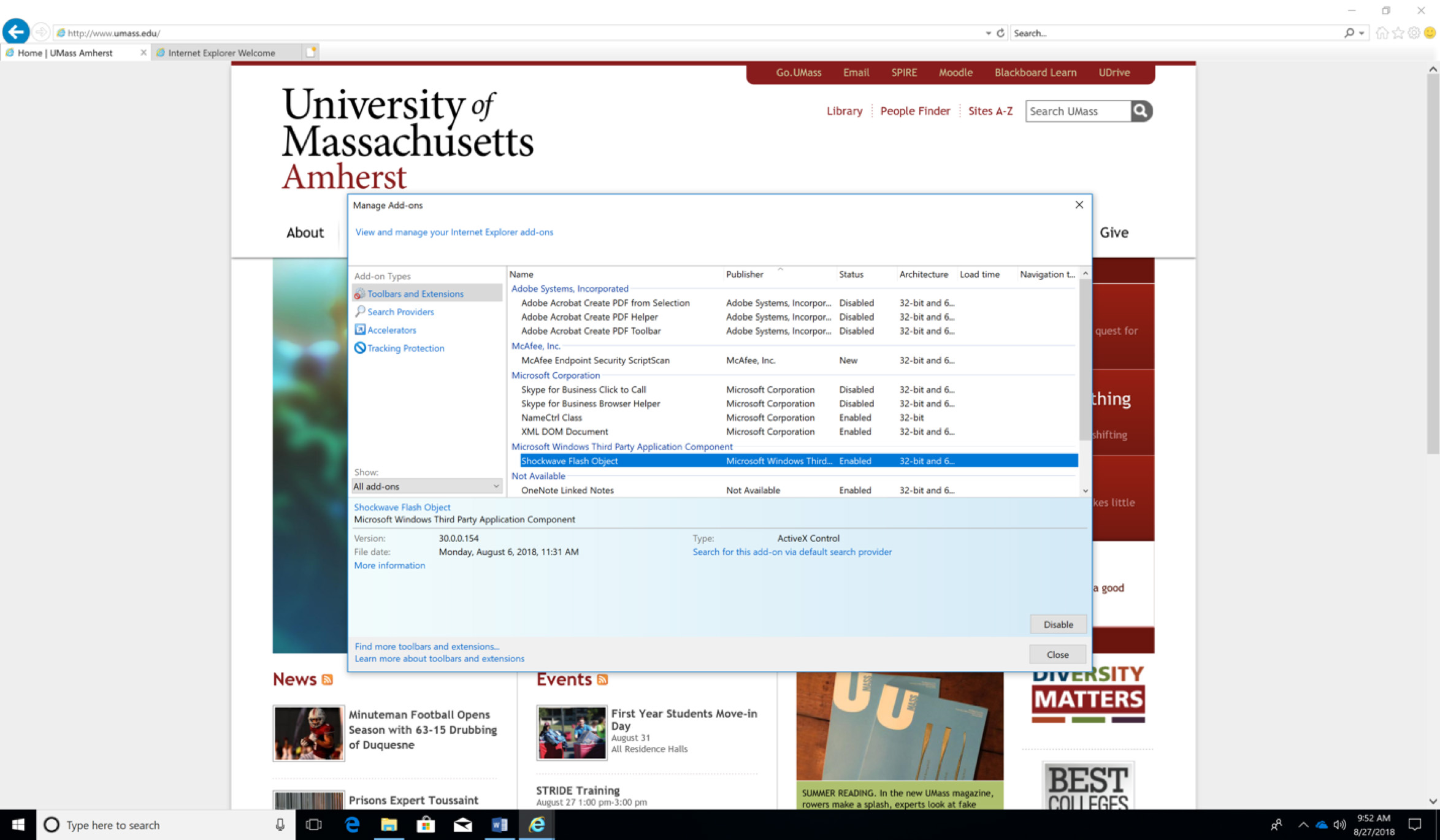 How to Enable Flash in Your Web Browser | UMass Amherst Information