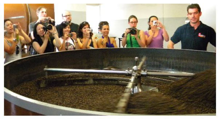 A snapshot from a course lecture on coffee roasting and production