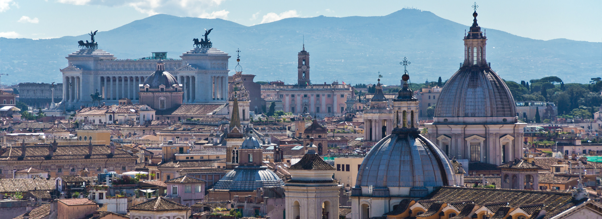 A a birds eye view of the city of Rome