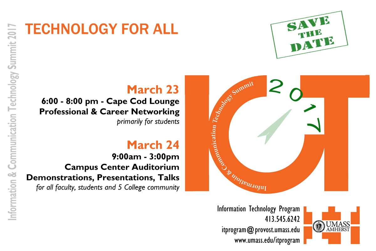Information & Communication Technology Summit 2017, Technology For All, March 23rd and 24th