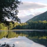 Mountain behind a lake