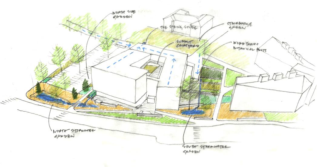 umass design building stormwater concept sketch