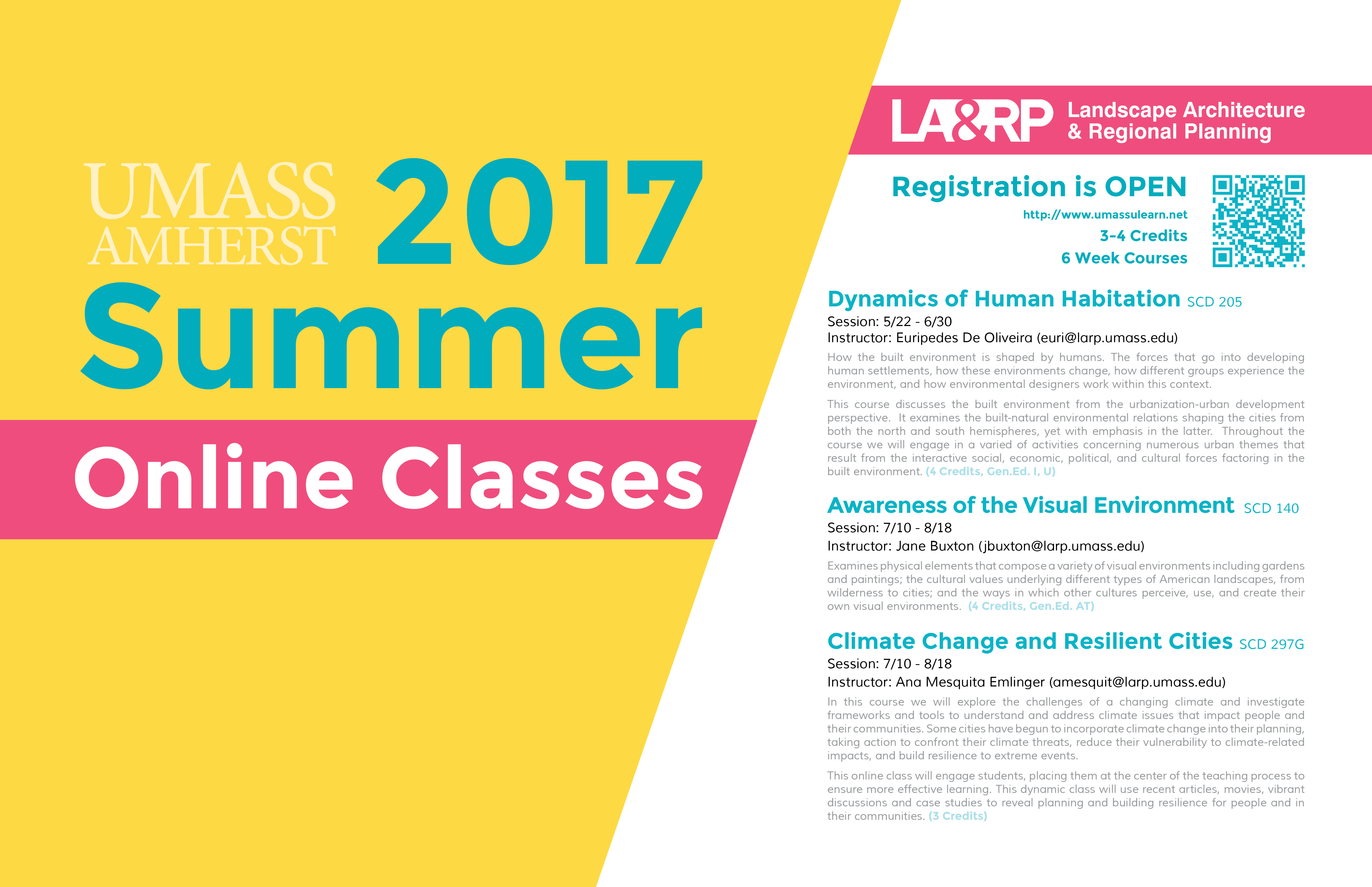 Refund And Class Swap Policies Differ From Univ. Day Classes; Please See  Www.UMassULearn.net For More Information.