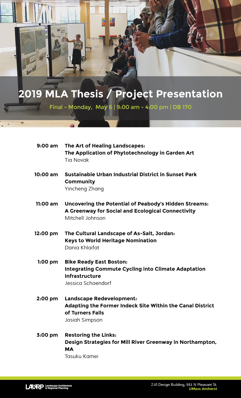 2019 MLA thesis/project final presentation poster