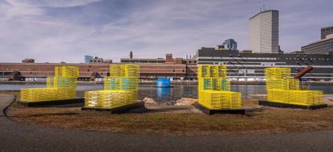 FutureSHORELINE, ublic art installation created by University of Massachusetts Amherst artist and landscape architectCarolina Aragón.