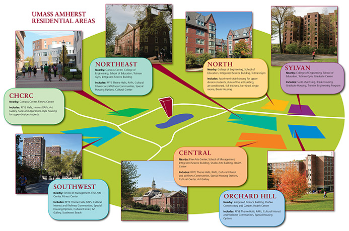 Map Of Umass Amherst Map of Residence Areas | Living at UMass Amherst