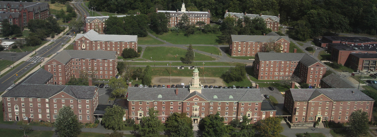 Northeast Residental Quad, taken from the air.