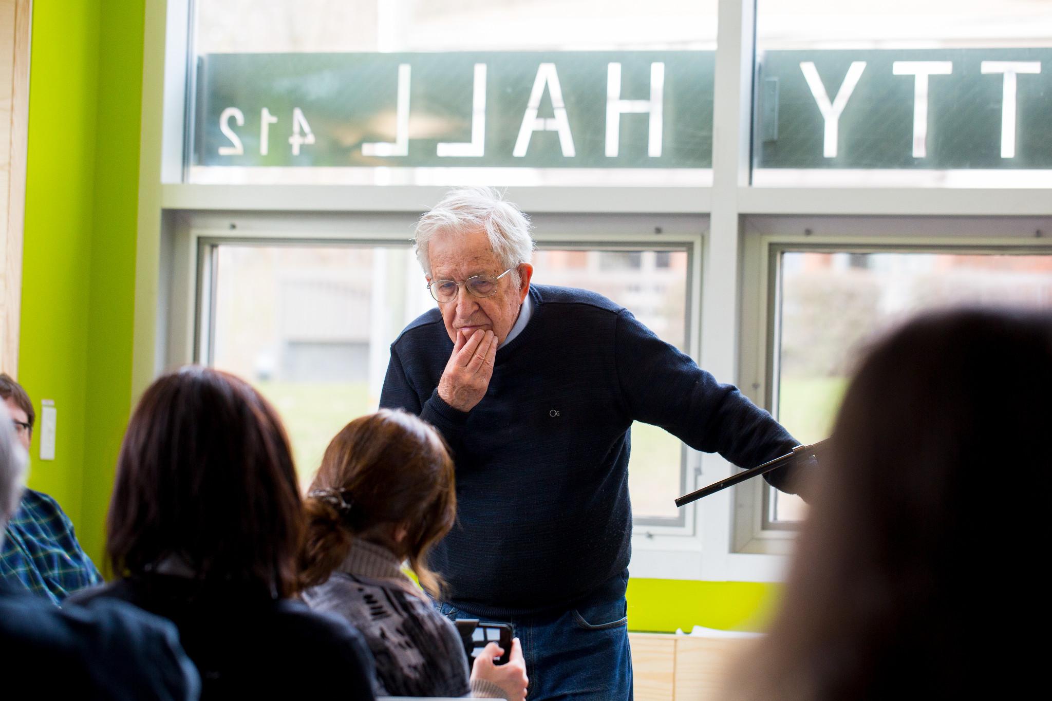 Noam Chomsky at UMass Amherst