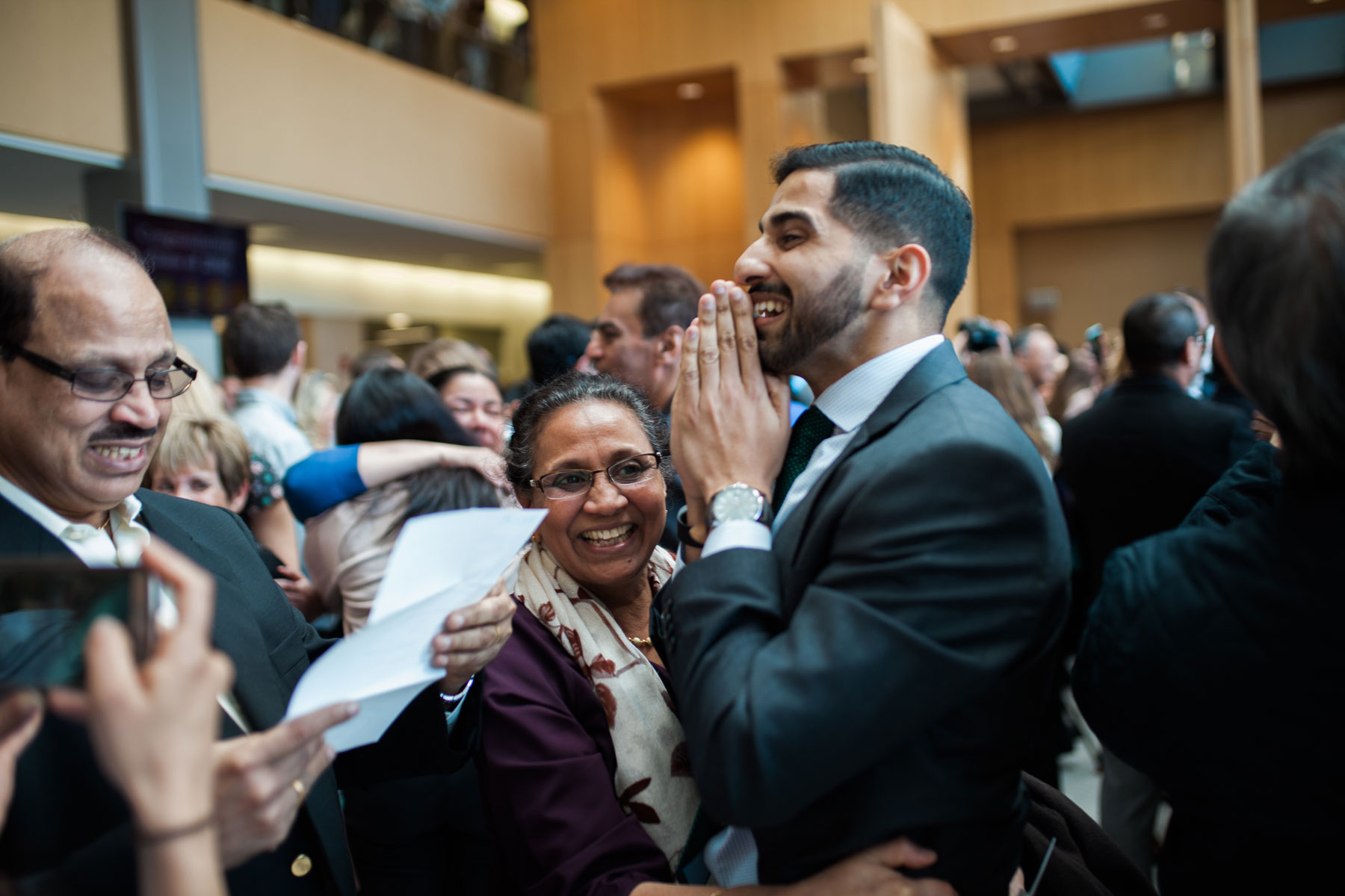 Andy Dowd's photograph captures Match Day at UMass Medical School