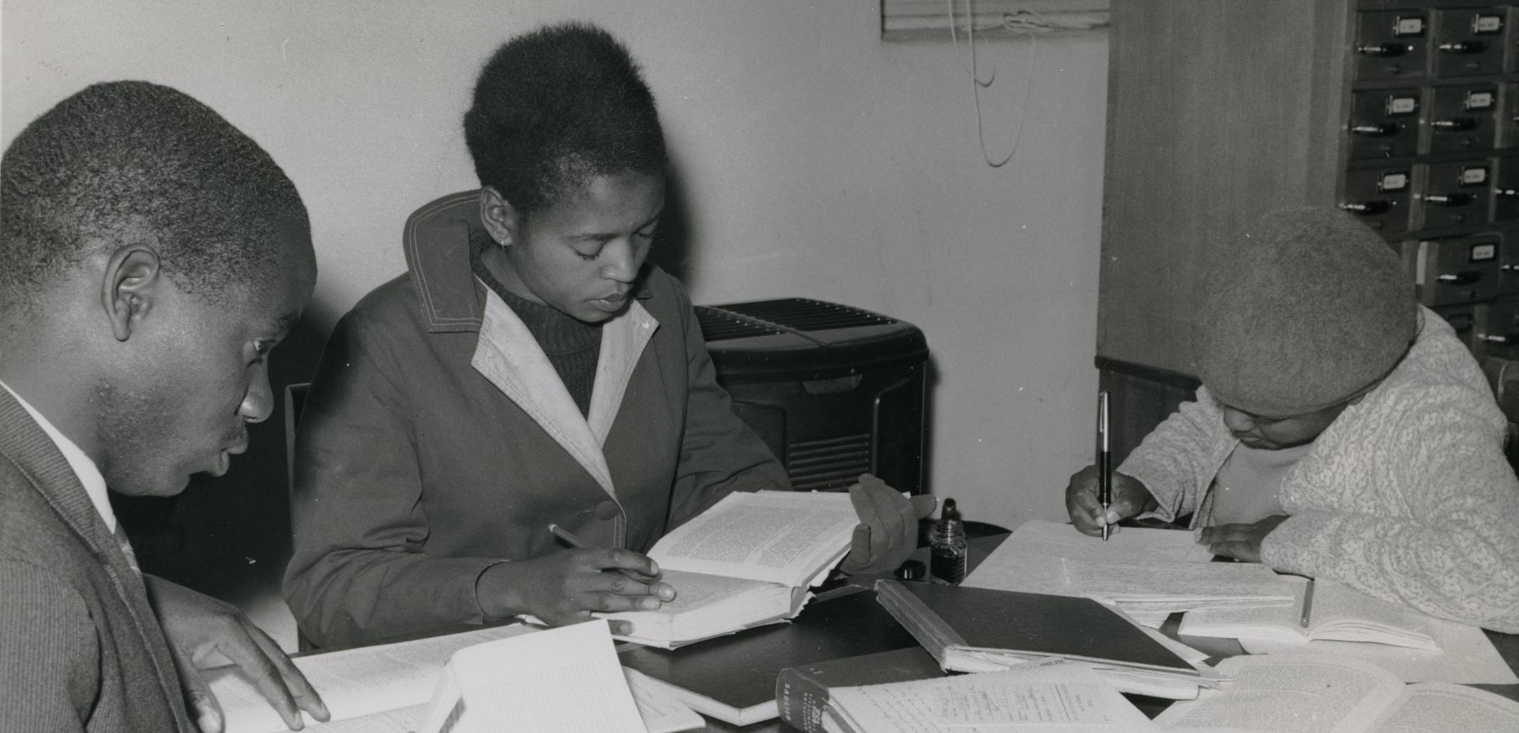Students studying in Lesotho, 1963