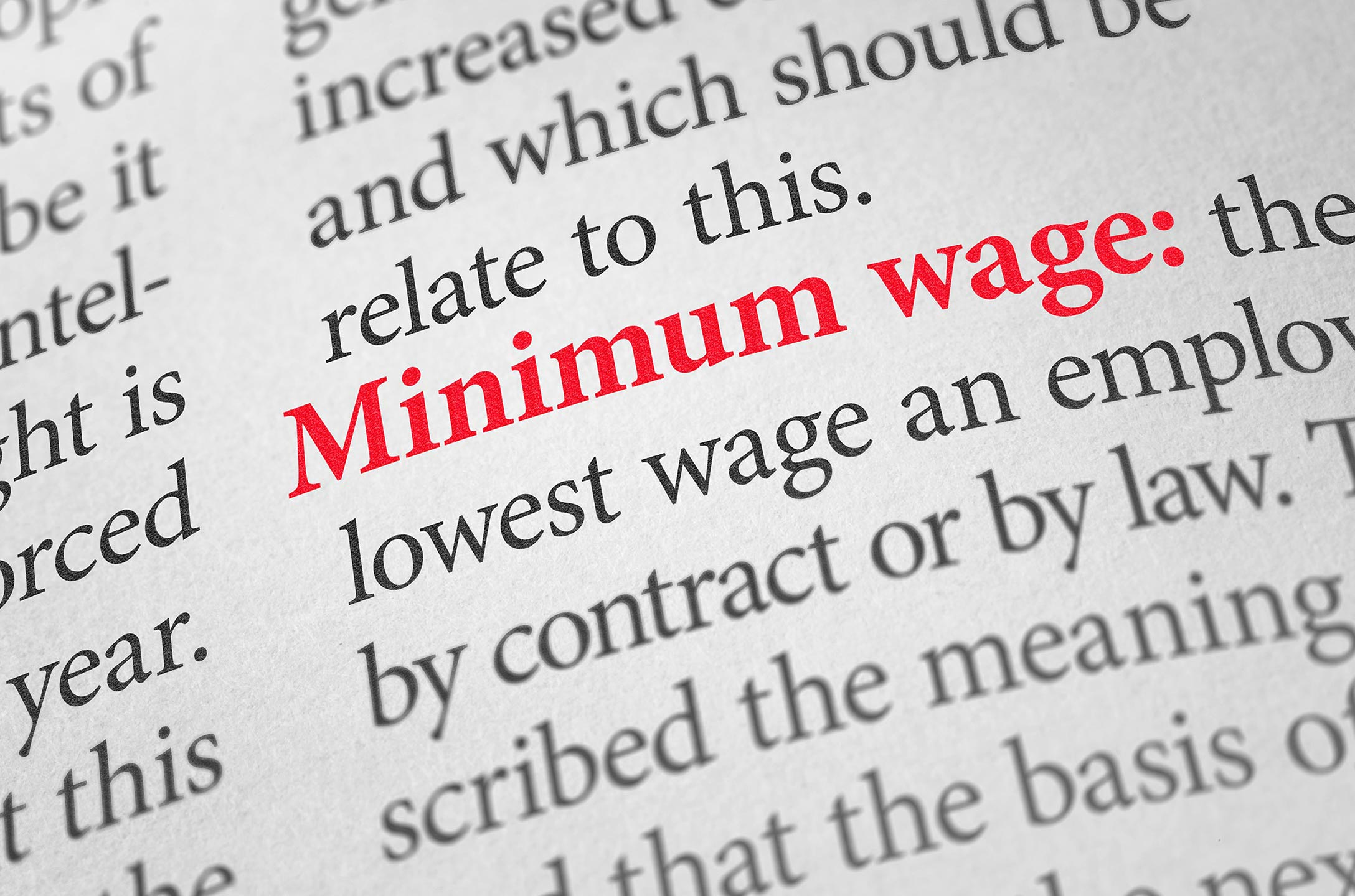 Dictionary definition of minimum wage.