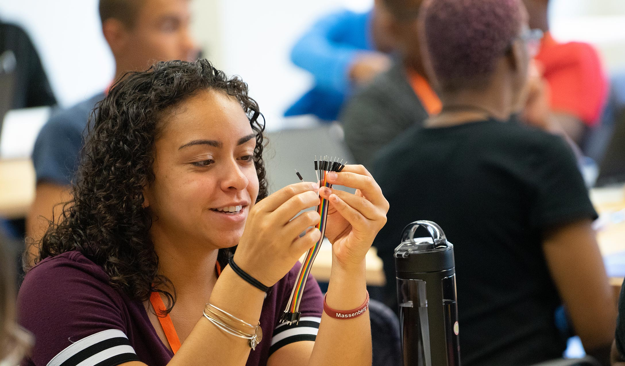 Student working on a project at Massenberg Summer STEM Institute