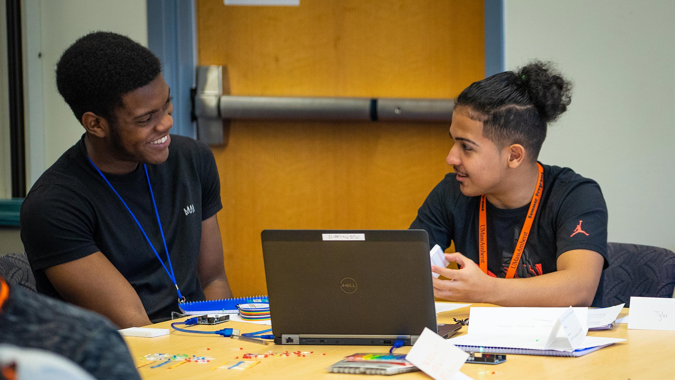 Two students participate in the Massenberg Summer STEM program