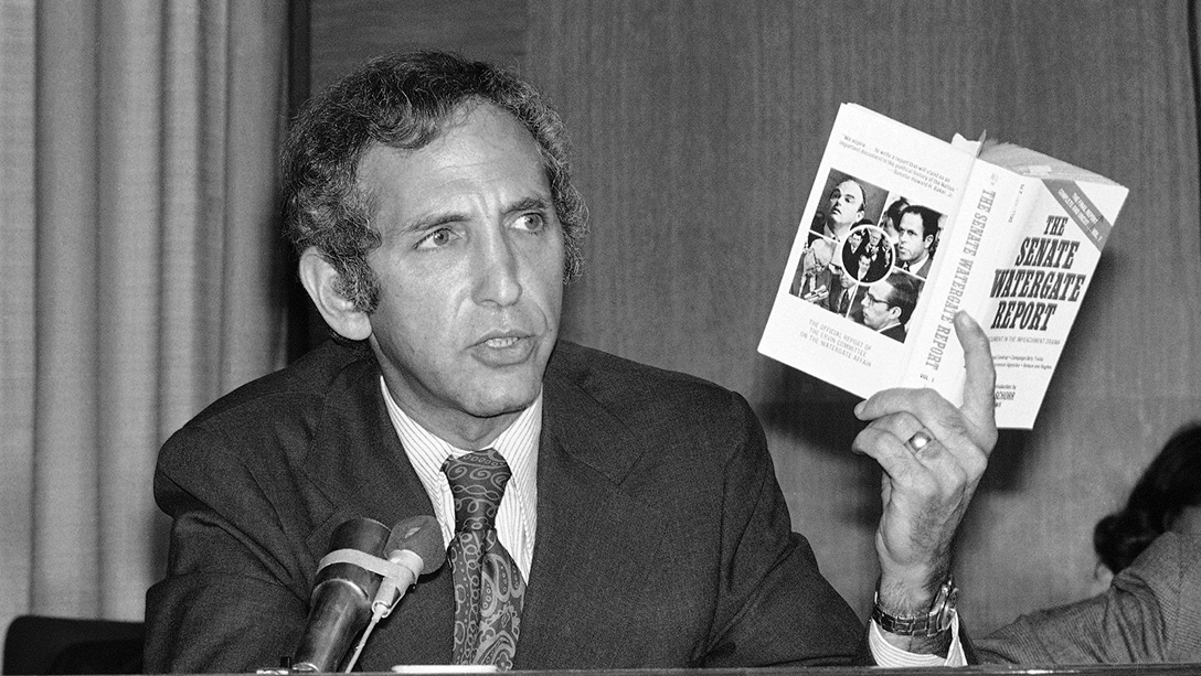 Daniel Ellsberg at a press conference
