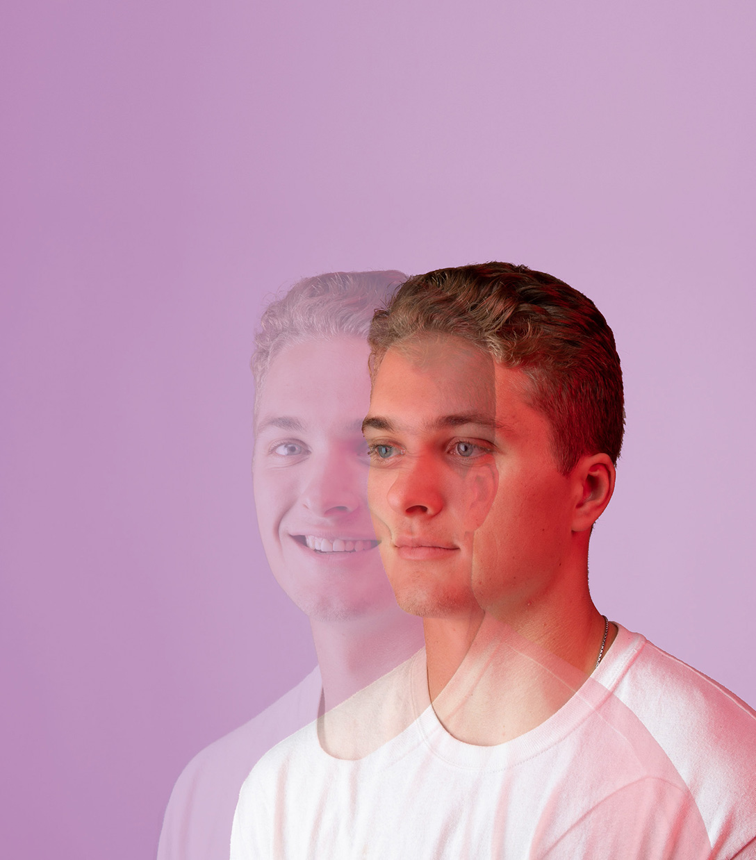 Mitchell Chaffee in double exposure