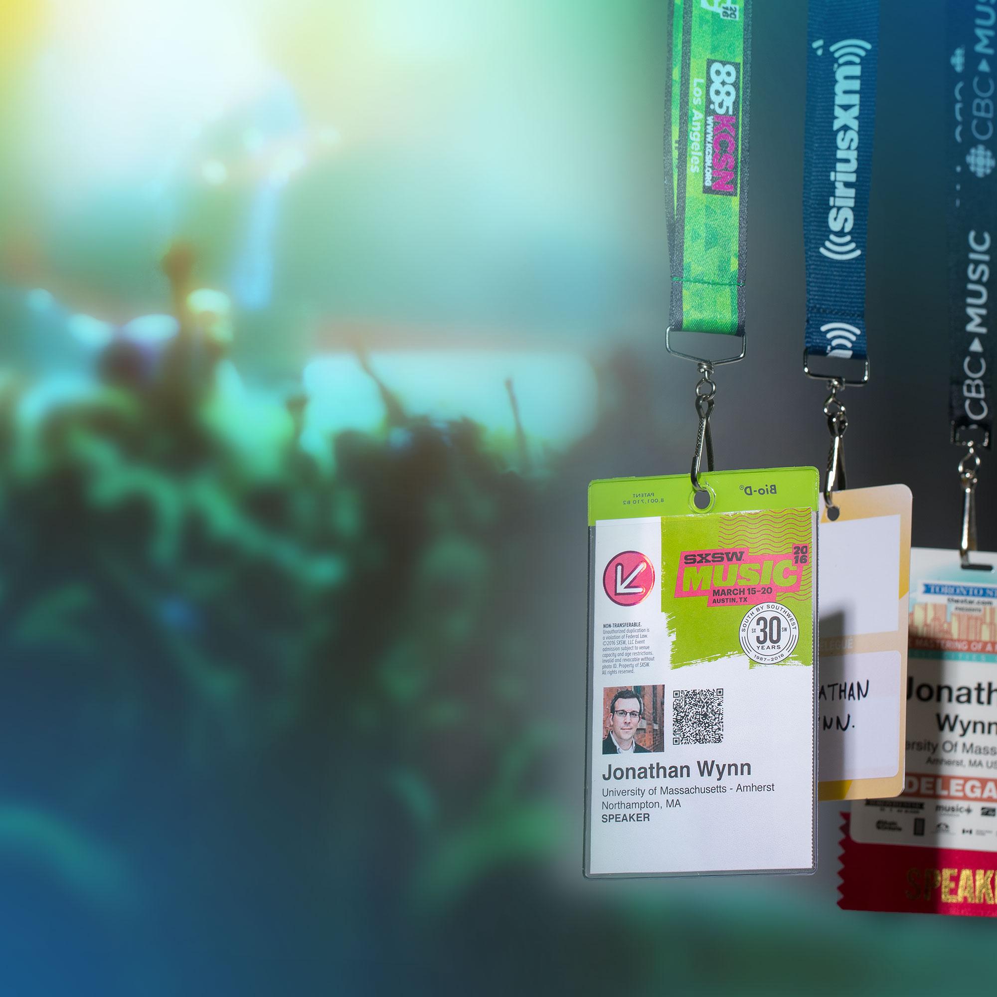 Jonathan Wynn's festival passes