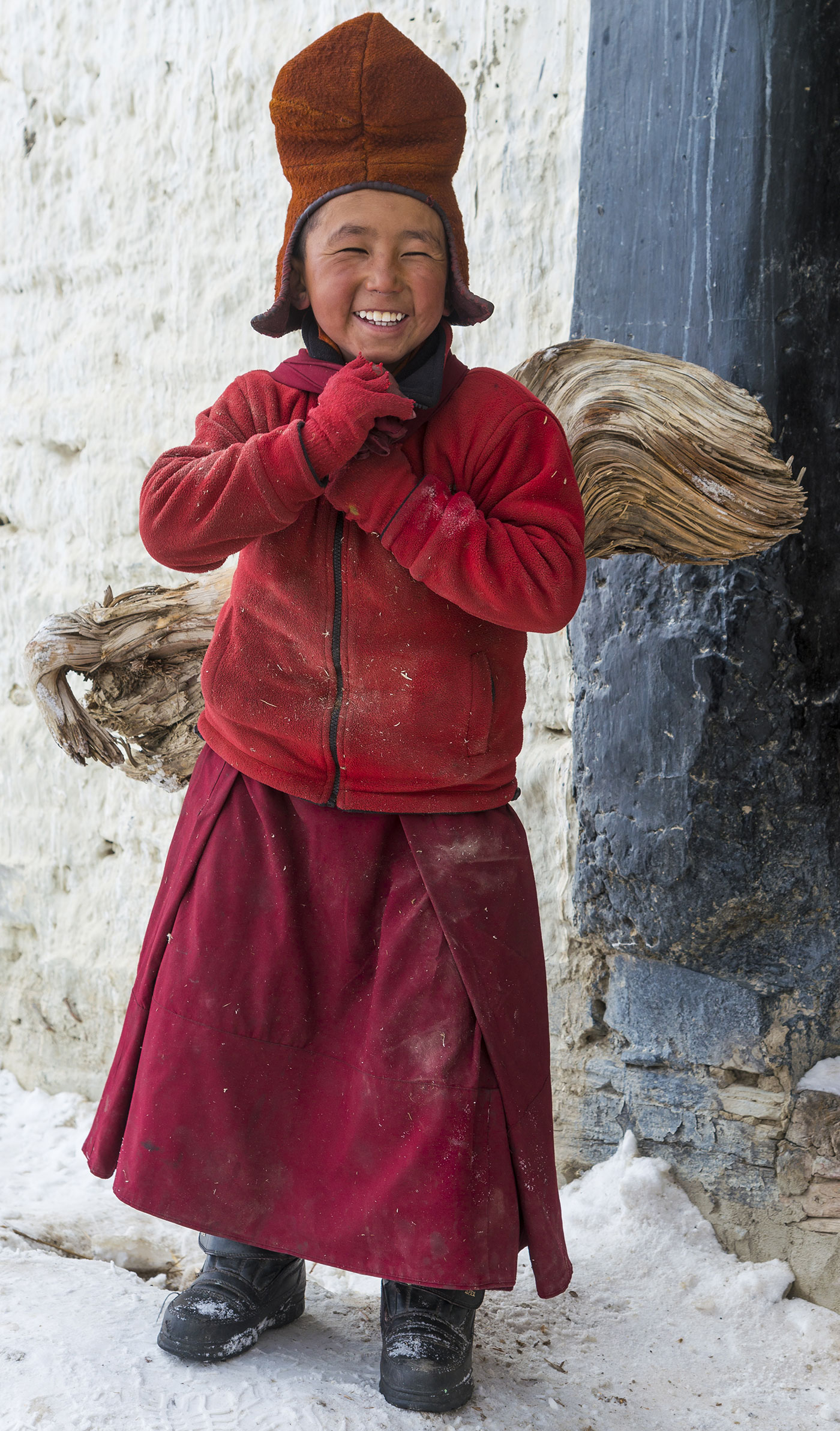 A boy in Zanskar, India.