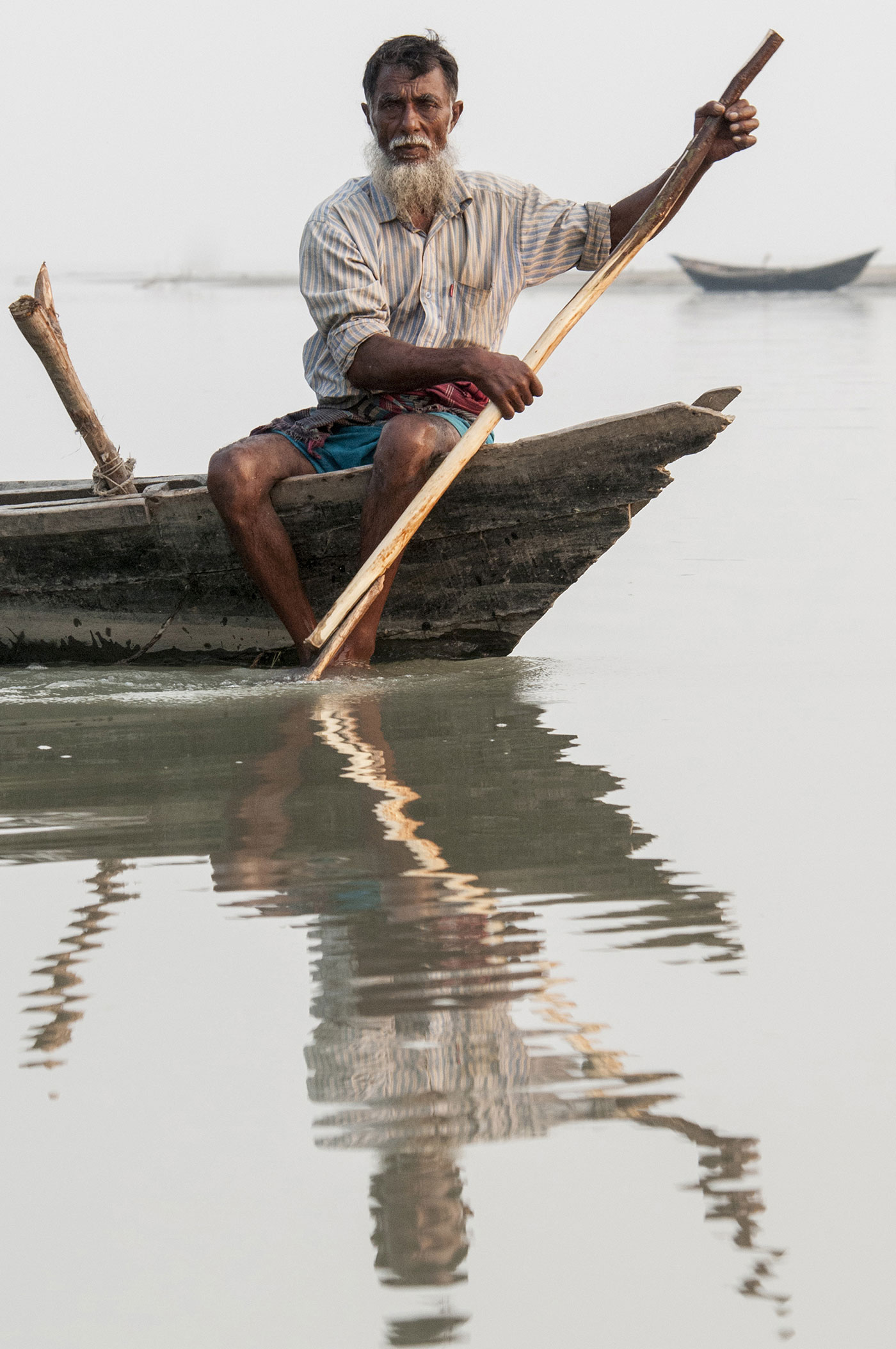 A fisherman in Bangladesh.