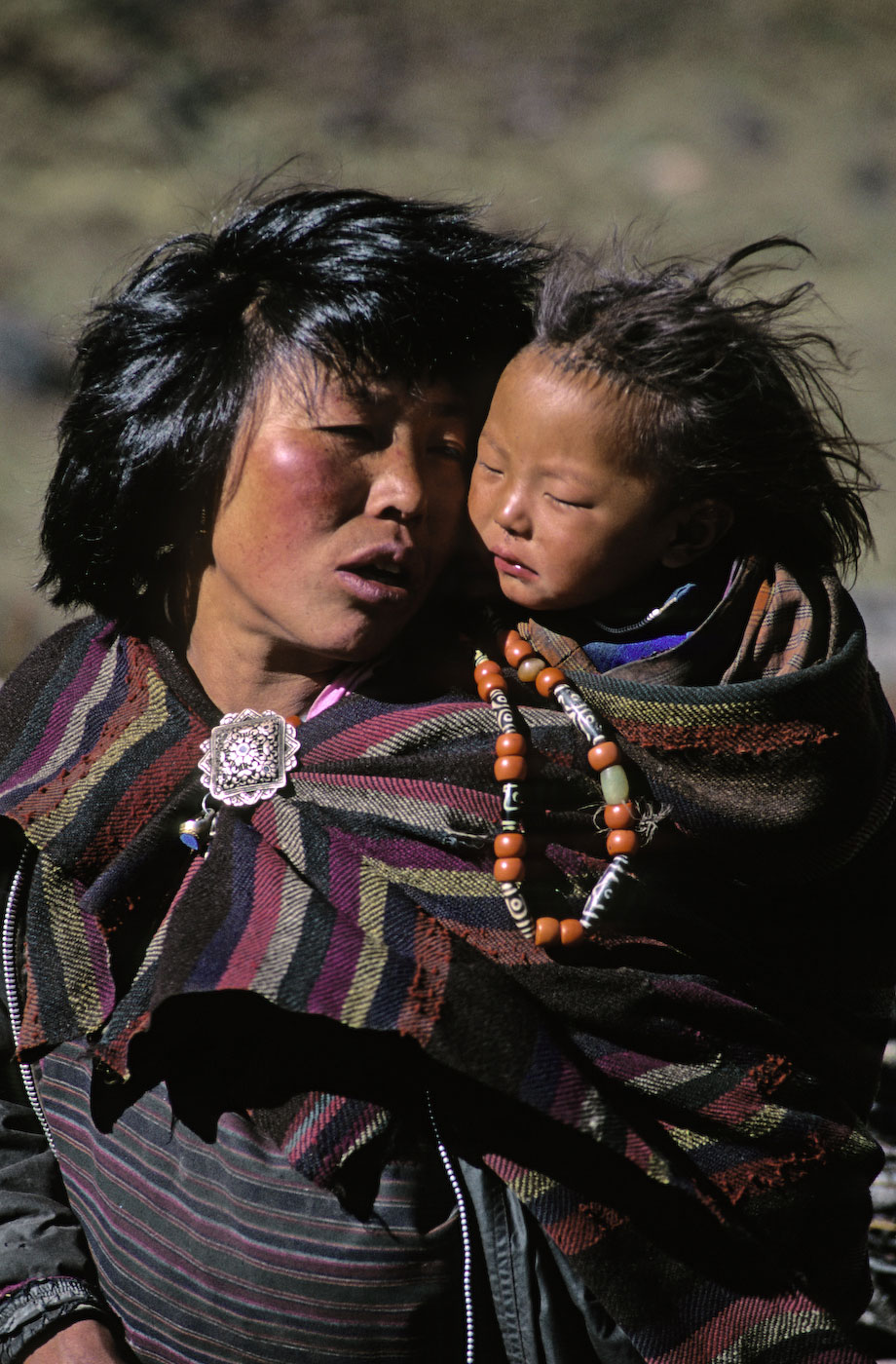 Mother and child in Bhutan.