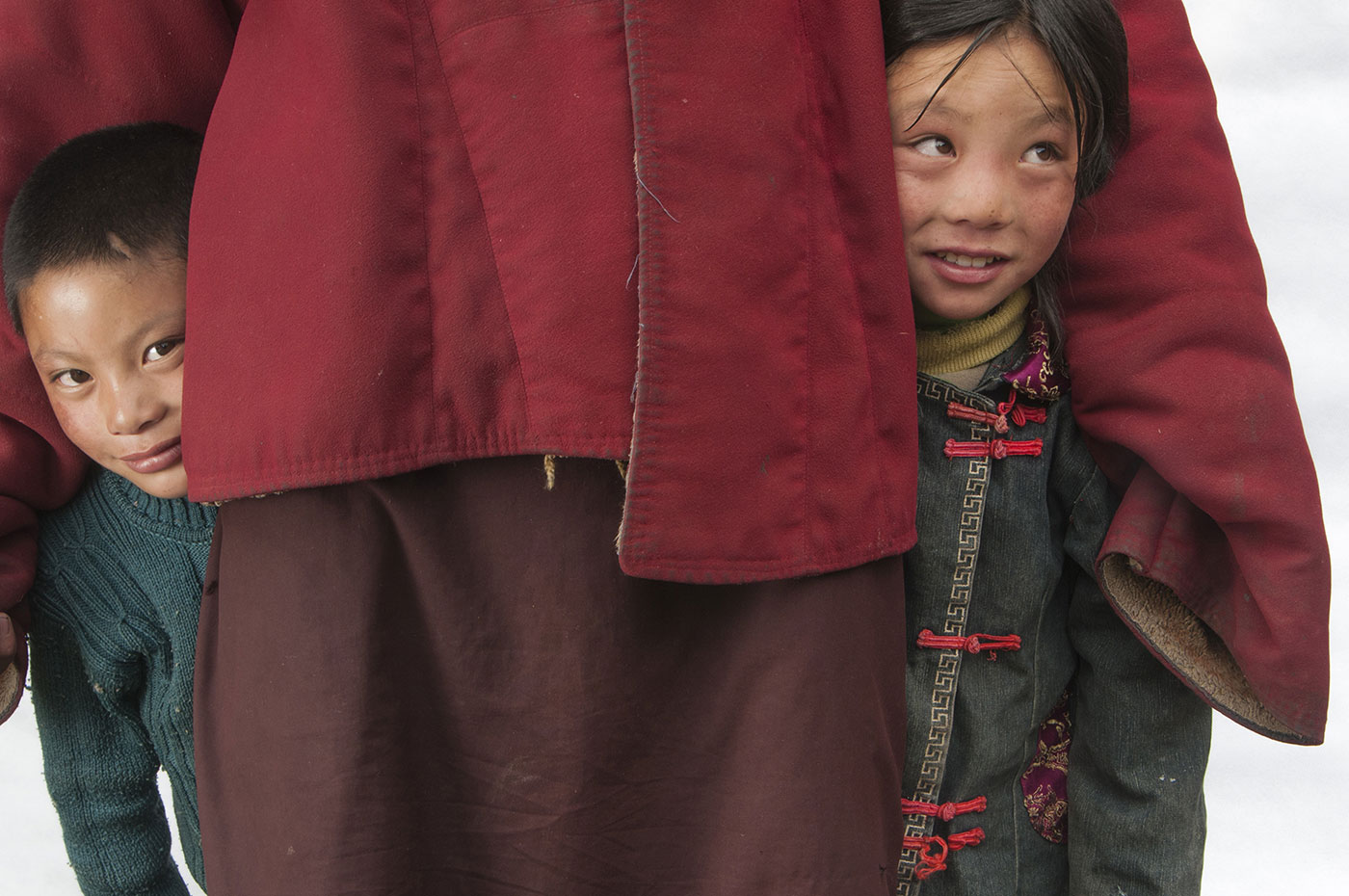 Children in Kham, Tibet.