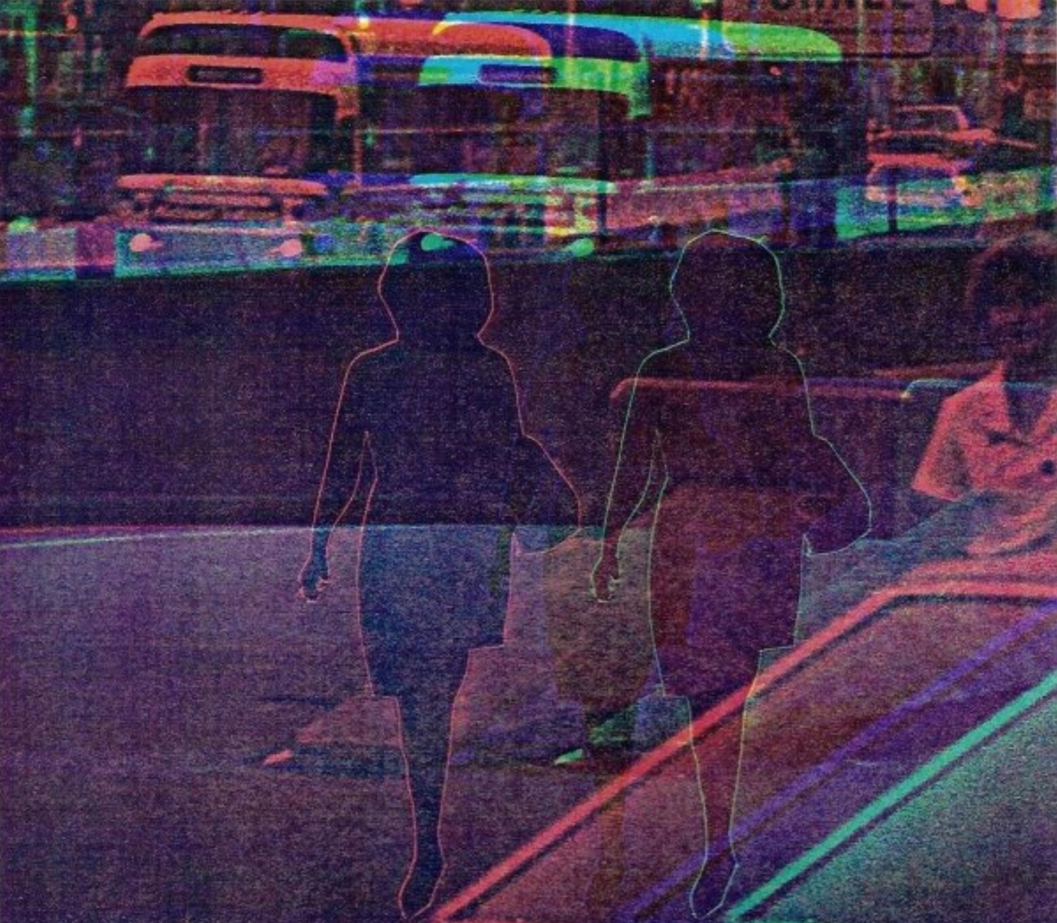 David Akiba photograph of pedestrians in a street scene with artistic color treatments