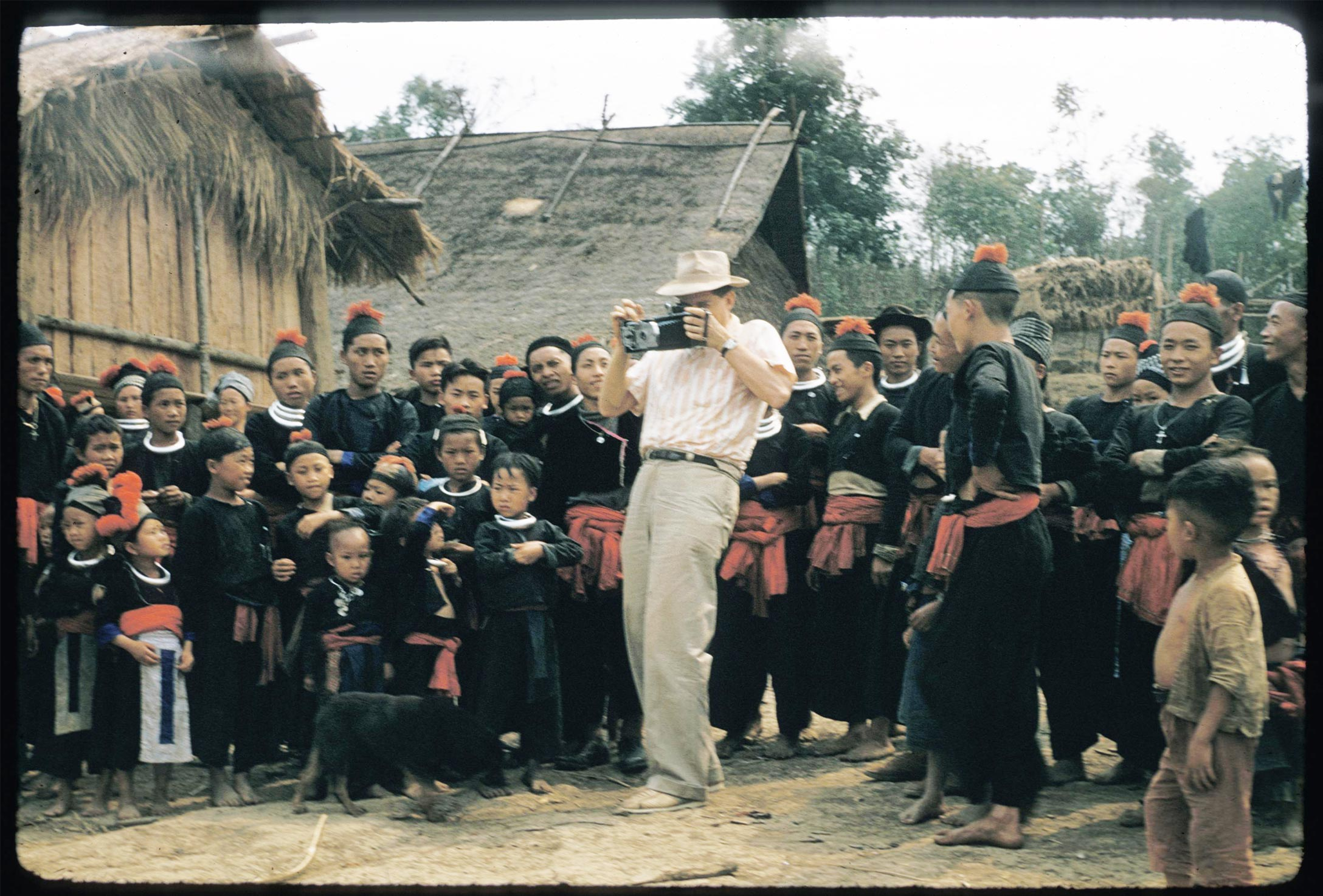 Joel Halpern photographing a wedding during one of his research trips