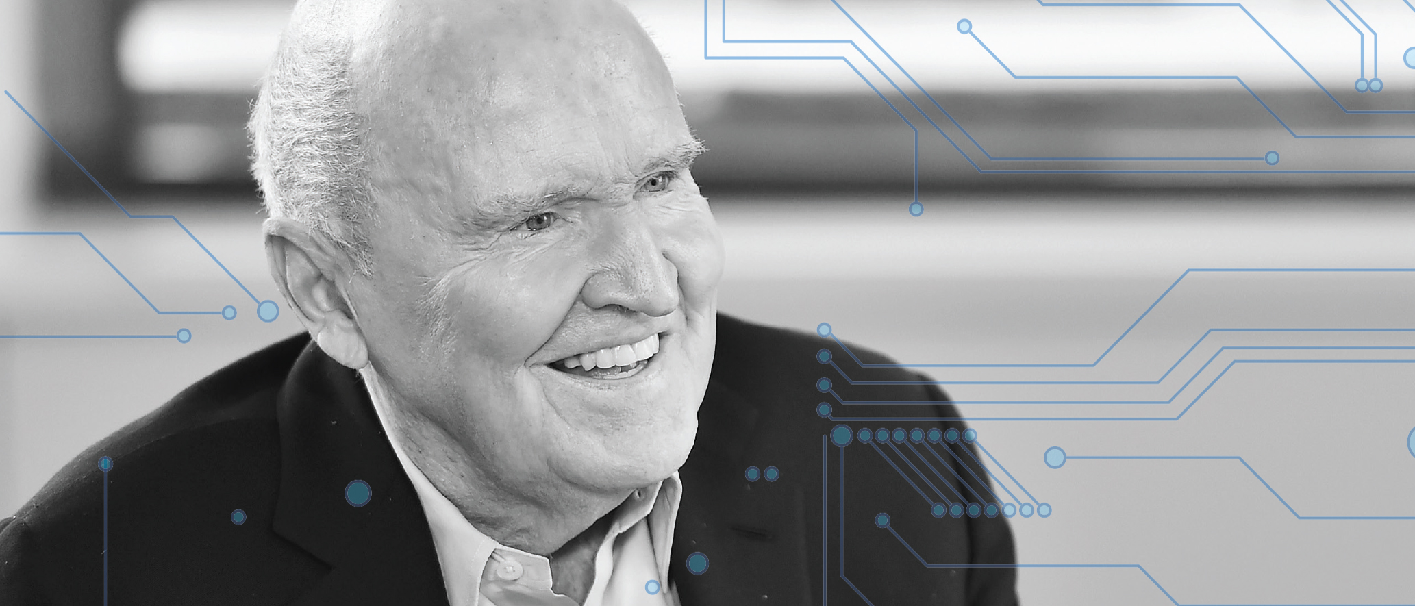 Jack Welch laughs