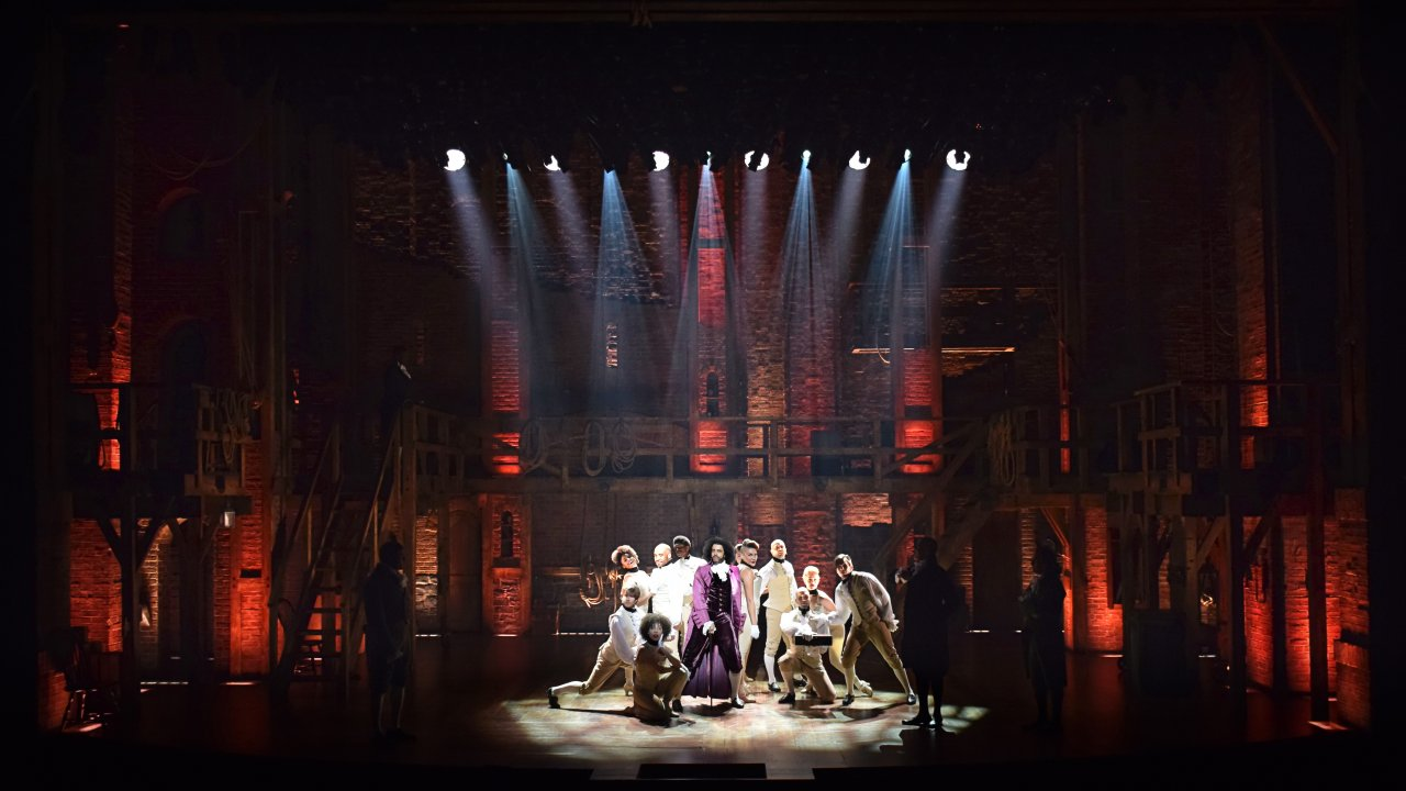 The set of Hamilton, designed by David Korins. (Photo courtesy David Korins Design.)