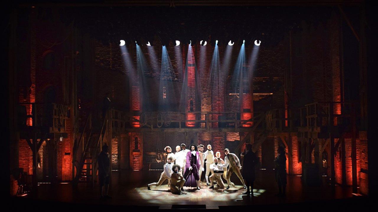 The set of Hamilton, designed by David Korins. (Photo courtesy David Korins Design.)