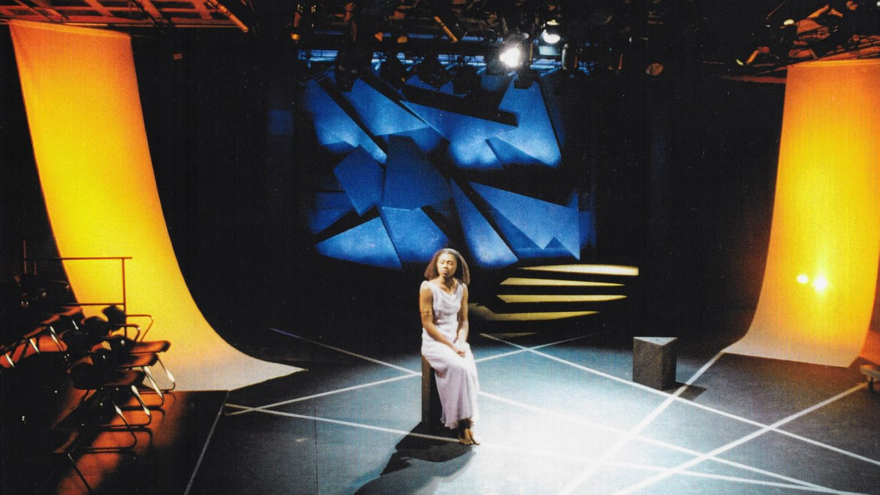The set of Antigone, designed by David Korins at UMass Amherst.