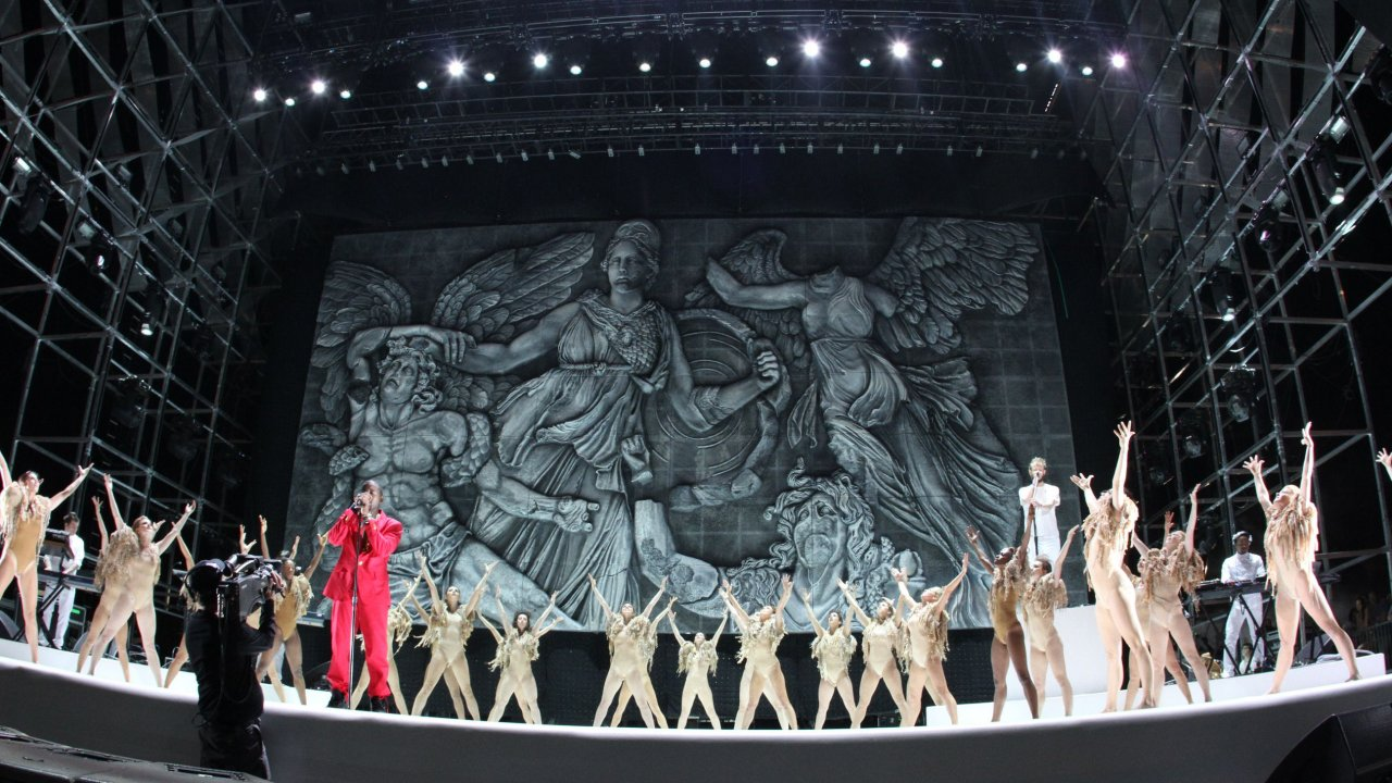 David Korins designed the stage at Kanye West's Coachella concert. (Photo courtesy David Korins Design.)