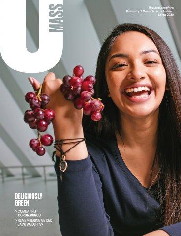 UMass Magazine Spring 2020 cover