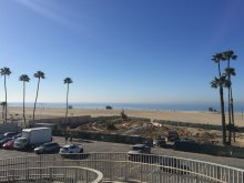 The earthwork for the park being dug, between Santa Monica Boulevard and the Pacific Ocean.