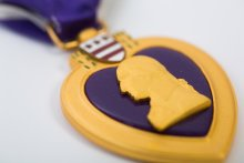 UMass alum John J. Fitzgerald '63, '78G Purple Heart.
