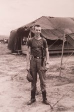 UMass alum John J. Fitzgerald '63, '78G photo in Vietnam.