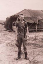 UMass alum John J. Fitzgerald '63, '78G photo in Vietnam.