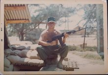 UMass Amherst graduate of 1975 Joseph J. Cancellieri Jr. photo in Vietnam.