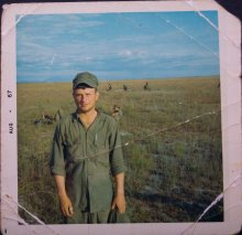 UMass Amherst graduate of 1975 Joseph J. Cancellieri Jr. photo in Vietnam.