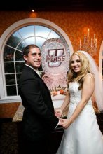 John Martin '07 and Gina Rybarczyk Martin '08 had a UMass ice sculpture and Sam the Minuteman at their wedding reception.