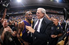 Laker Kobe Bryant and Coach Phil Jackson both became friends of Andrew Bernstein. Andrew D. Bernstein/NBAE/Getty Images