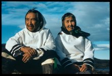 Inuit couple, Labrador, 1955.