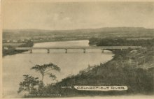 The bridge between Chicopee and West Springfield, looking north (as did the crowd during the regatta).