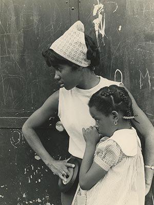 Cheryl Evans with student, Roxbury Summer Program, 1965
