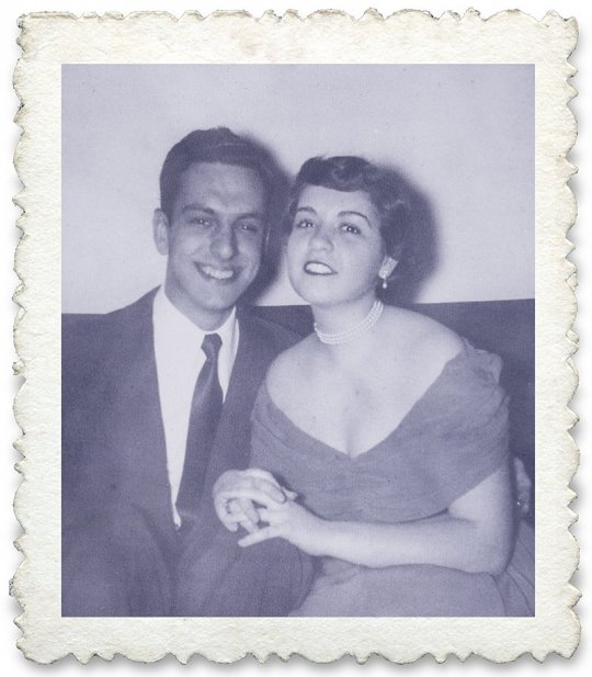 Charlie and Mickey Feldberg in 1954